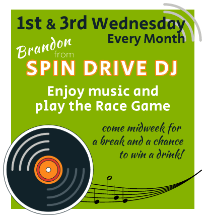 Spin Drive DJ Music, Race Game and Prizes every Wednesday at the Club in Preston MN